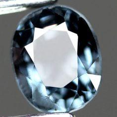 1.07CT.SHINING ! OVAL FACET TITANIUM BLUE NATURAL SPINEL SRI  LANKA #gemnatural