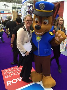 Spending time with Chase from Paw Patrol!