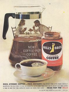 Hills Bros Coffee Ad 1960