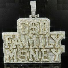 """Ct Round Diamond Men's """"Family Money"""" Name Charm Pendant Yellow Gold GP Diamond Party, Diamond Ice, Engraving Services, Moissanite Diamonds, Lab Created Diamonds, Diamond Pendant, Round Diamonds, Hip Hop, Plating"""