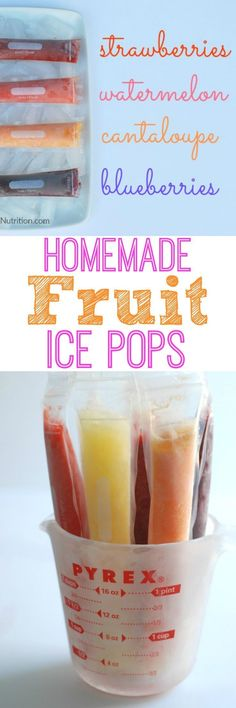 2-Ingredient Homemade Fruit Popsicles - Real Mom Nutrition