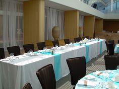 Blue wedding head table