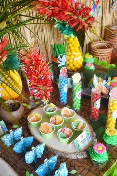 Rio Inspired Tropical Birthday Party - with lots of ideas on DIY decoration, brazilian rio party food, drinks, printables, favors, party activiteis and more! - BirdsParty.com