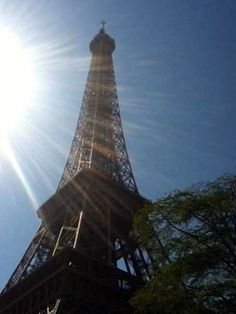 An amazing structure... the Eiffel Tower on our Seine River Cruise