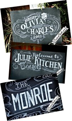 Custom chalk art via CustomChalk.com.This would be such a fabulous gift idea!