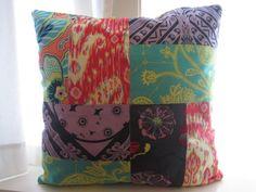 boho pillpws   Boho Chic Patchwork pillow   DIY