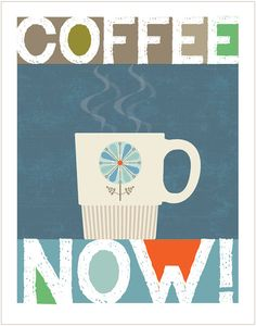 COFFEE NOW Original Illustration Limited by cbycdesignstudio
