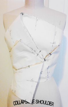 Marking off bodice 1 to develop the pattern