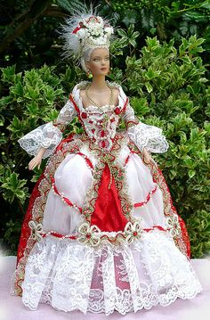 French Court - 16 Tyler by Collet-Art Barbie Gowns, Barbie Dress, Barbie Clothes, Beautiful Barbie Dolls, Vintage Barbie Dolls, Barbie Costume, Victorian Dolls, Victorian Era, Barbie Collection