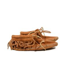 Kid's Fringe Moccasins Brown Ankle Boot Mocs by RabbitHouseVintage, $25.00