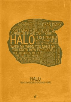 Halo Typography /// by Kody Christian /// For sale at Society6.com