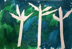 Watercolor and salt resist painting.
