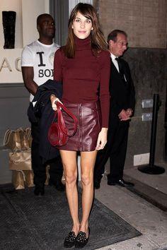 Get Alexa Chung's Stylish All-Burgundy Look | Le Fashion | Bloglovin'