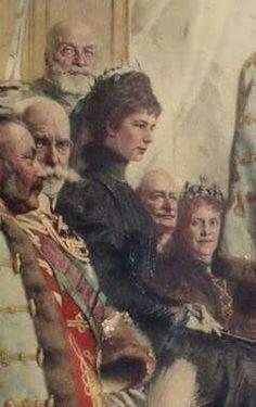 Detail van schilderij; 1896 Elisabeth op oudere leeftijd
