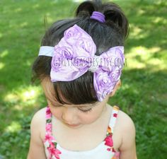 Lavender Boutique Rosette Headband. Newborn by GirlyTreasures, $12.99