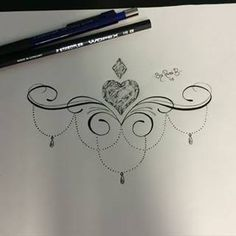 Image result for under boob tattoo designs