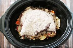 This delicious, savory venison roast comes together in just minutes. Low heat and slow cooking are perfect ways to create tender meat. Venison Roast Crockpot, Venison Recipes, Slow Cooker Recipes, Crockpot Recipes, Cooking Recipes, Slow Cooking, Cooking Tips, Deer Recipes, Veggie Recipes