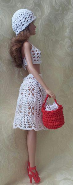 Top, Skirt, Hat & Purse - (no pattern) #