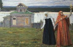 Михаил Васильевич Нестеров » Картины, живопись » В скиту (Сестры). 1916