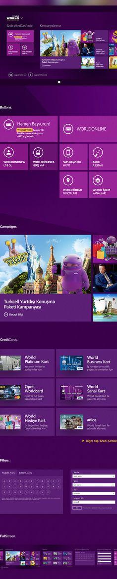 Worldcard #Windows 8 App #UI by Serkan B., via Behance