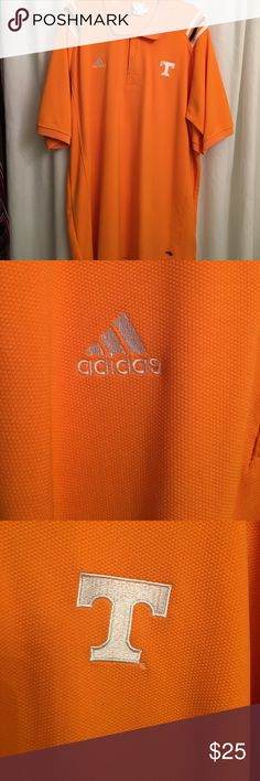UT ADIDAS men's shirt Worn once, has been dry cleaned , EU , men's shirt, great for all you UT fans, alma mater, or, students. Generous XL. Sorry, not much wiggle room on the price, these are expensive and you know they are! Adidas Shirts Polos