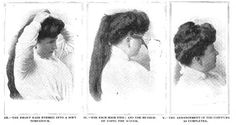 The Gibson Girl's Guide to Glamor: Natural Beauty, Victorian Beauty and Edwardian Fashion: Hair Styling Tutorial of the Edwardian Age