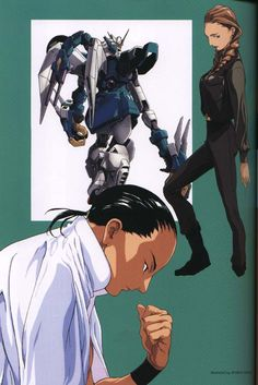 Wufei, Altron, and Sally. Always Wufei and Sally they were the best! Gundam Wing