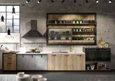 31 Awesome Industrial Style Kitchen Cabinet Design Ideas ,Yah some suggestions to help youyour kitchen. The kitchen is often known as the core of a house, and rightfully so. Your kitche. Industrial Kitchen Design, Kitchen Cabinet Design, Modern Kitchen Design, Interior Design Kitchen, Kitchen Cabinets, Kitchen Designs, Modern Industrial, Industrial Kitchens, Rustic Modern