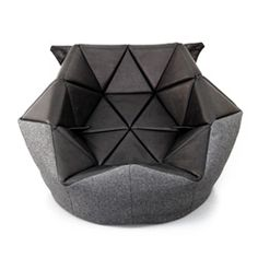 Marie By Antoinette Bader Is A Conventional Bean Bag Given A Refined  Triangular Outline That Can