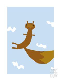 Flying Squirrel Art Print at Art.com