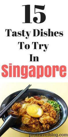 Check out these 15 delicious things to eat while you're traveling in Singapore! From street foods to restaurant dishes, these Singaporean dishes are must eats!