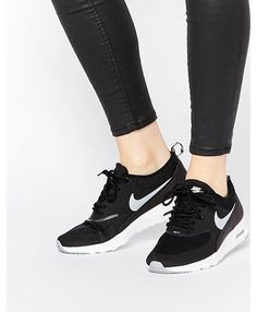 factory price d90dd 3efdb Nike Air Max Thea Black White Trainers