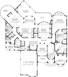 Plan 36246TX: Luxury House Plan with Central Courtyard | Luxury ...