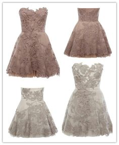 Tidetell.com Elegant A-line Sweetheart Short Lace Prom Dress #lace# #short# #prom dress#