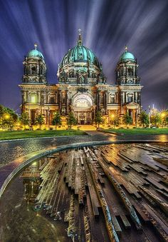 This is Berliner Dom (Berlin Cathedral) on Museumsinsel (Museum Island) in the Mitte district of Berlin, Germany