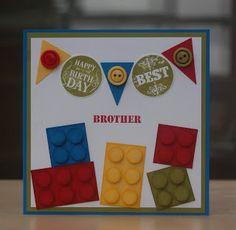 lego punch art card