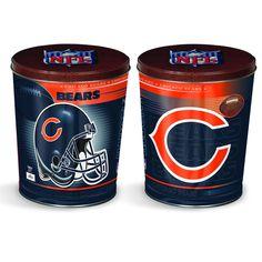 Chicago Bears Popcorn Tin | Three Gallon Gift Tin with 7 Flavors