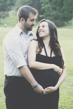 Maternity photo with my love. Couple