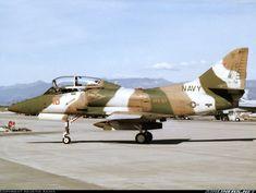 US Navy Douglas TA-4J Skyhawk of VFA-127 at Lemoore.