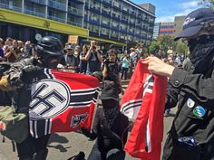 """Small scuffles broke out Saturday as police in Portland, Oregon, deployed """"flash bang"""" devices and other means to disperse hundreds of right-wing and self-described anti-fascist protesters,. US News Summaries. Portland City, Portland Oregon, Police Chief, Right Wing, Nbc News, Investigations, Rally, No Response, Prayers"""