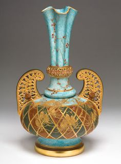 Edward Lycett (American, b. England, 1833–1910). Faience Manufacturing Company (1881–92). Vase, 1886–90.