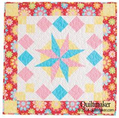 Star Struck quilt pattern: This bright and sparkly wall quilt designed by Celine Perkins can be made in a weekend!