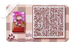 ACNL QR CODE-Girl on Scooter Standee