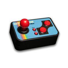 Video Game Controller mit Mini Joystick, Start-, Reset- und A+B Knöpfen Inkl. 200 integrierten 8-Bit Retro Spielen (u.a. Schieß-, Arkade-, Puzzle- und Sportbasierte Spiele) #zocker #retro