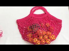 Fishnet bag made easy mesh bag market market bag - Punto Red Crochet, Crochet Box, Irish Crochet, Knit Crochet, Crochet Hats, Crochet Handbags, Crochet Purses, Crochet Stitches Patterns, Crochet Designs