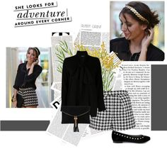 """""""Houdstooth option"""" by sarapires on Polyvore"""