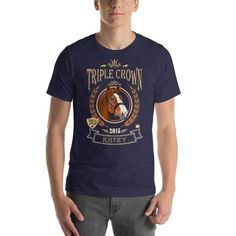 9a8437ad7590 Short-Sleeve Unisex T-Shirt | Justify | Triple Crown Winner | Thoroughbreds  | Equestrian Gifts | Horse Apparel | Horses | Sports T Shirt