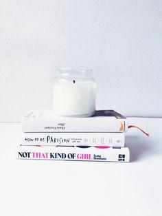 Książki, yankee candle, zima,