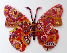 Raamdecoratie Vlinder oranje-rood -Natasja Mulder-Colorito