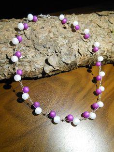 Neu unikat Polariskette lila weiß Halskette Collier Polaris perlen kette  in Uhren & Schmuck, Modeschmuck, Halsketten & Anhänger | eBay!